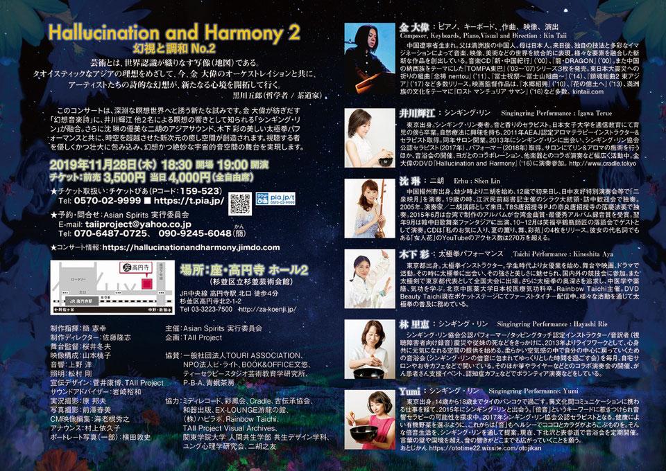 Hallucination and Harmony 2 幻視と調和No.2 チラシ裏面